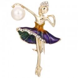 Broche de cristal de bailarina