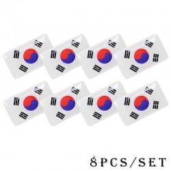 3D naklejka z emblematem flagi narodowej 8 sztuk