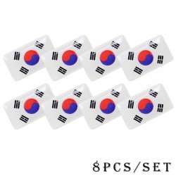 3D national emblem car sticker 8 pcs