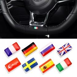 3D-Nationalflagge Emblem Autoaufkleber 8-tlg