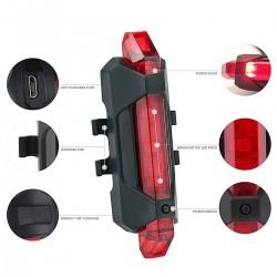 USB-wiederaufladbares Fahrradrücklicht