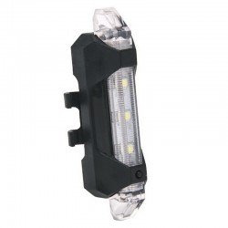 Luz trasera de advertencia de seguridad de bicicleta recargable USB