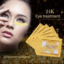 Patch de masque pour les yeux au cristal de collagène doré 10 pièces