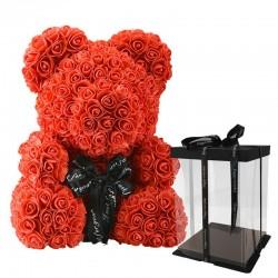 Oso rosa - oso hecho de rosas infinitas - 40 cm