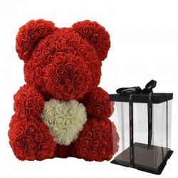 Infinity rosa oso con corazón 40 cm.