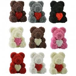 Beer van infinity rozen teddybeer met hart 40 cm
