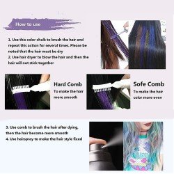 Hair color dye temporary mascara washable