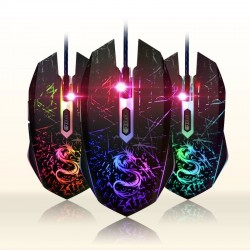 USB color changing computer gaming optical wired mouse