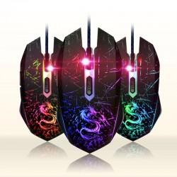 Zmieniająca kolor USB komputerowa przewodowa optyczna myszka