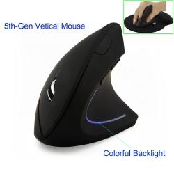 2.4G 800/1200/1600DPI bezprzewodowa ergonomiczna optyczna pionowa myszka & podkładka komplet