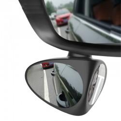 2 w 1 lewe & prawe 360 obrotowe regulowane samochodowe lusterko wsteczne