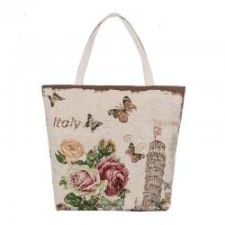 Canvas tas met bloemenprint
