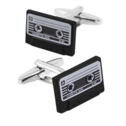 Retro cassette band manchetknopen