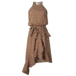 Modna sukienka w grochy