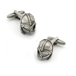 Warrior helmet cufflinks