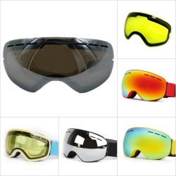 Skiing goggle lenses
