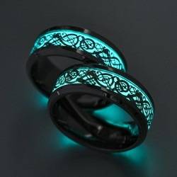 Glowing in the dark fluorescent ring unisex