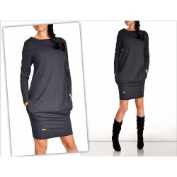 Długi sweter - mini sukienka