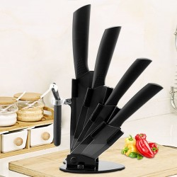 Keramische keukenmessen - dunschiller - houder