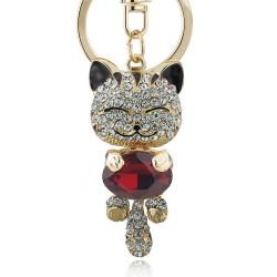 Crystal cat - keychain