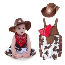 Kowboj - kostium dla dzieci komplet 3 szt
