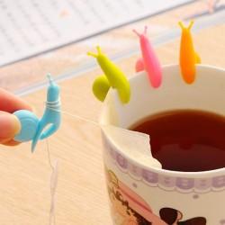 Silikonowy ślimak - zaparzacz do herbaty - uchwyt na torebkę 2 szt