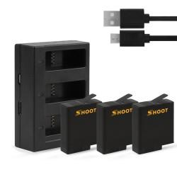 Bateria AHDBT-501 - ładowarka USB z trzema i dwoma portami do kamery GoPro 7/6/5 Action