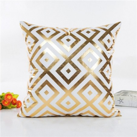 Gold pattern - pillowcase cushion cover 45 * 45cm