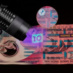 Zoomable UV LED flashlight torch - marker checker - fake money detection