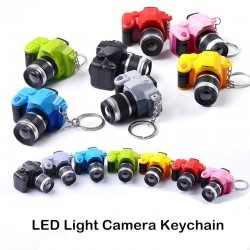 Camera keychain with flashing LED & sound