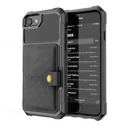 iPhone 6 6S Plus - 7 7 Plus - 8 Plus - X - XS MAX - XS - XR - skórzany ochronny pokrowiec z podstawką