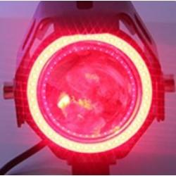 Angel Eye motocyklowy reflektor LED z przełącznikiem - lampa przeciwmgielna - chip Creee 3000LM - zestaw 2 szt