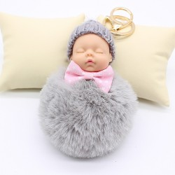 Sleeping baby doll - keychain