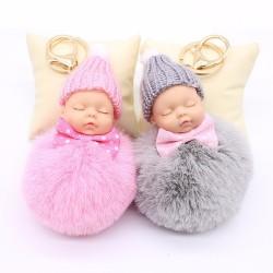 Sleeping baby doll - keychain