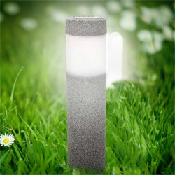 Solar powered LED light - stone - pillar - garden light