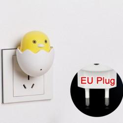 LED AC 220V - enchufe de pared - luz nocturna - con sensor de control - pato amarillo