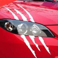 Klauwsporen - reflecterende autosticker 40 * 12cm