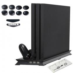 Playstation 4 Pro - vertikaler Ständer - Lüfter - Ladestation - USB Hub