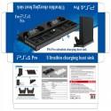 Playstation 4 Pro - heat sink base - vertical stand - cooling fan - charging station - USB Hub