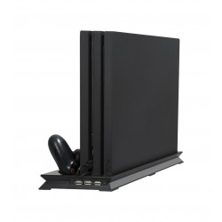 Playstation 4 Pro - heat sink base - vertical stand - cooling fan - charging station - USB Hub