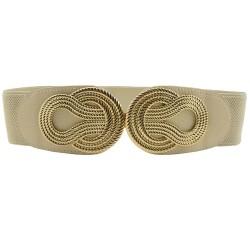 Nudo chino vintage - cinturón de cuero elástico