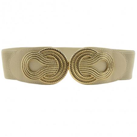 Vintage chiński węzeł - elastyczny skórzany pasek