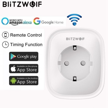BW-SHP2 WIFI - 220V 16A - smart socket - EU plug - remote control - timing switch
