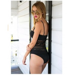 One piece swimsuit with push up