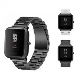 20mm uniwersalny wymiana Watch Band stali Lite siatki tama metalowa dla Huami Xiaomi Amazfit Bip dl