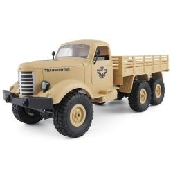 JJRC Q60 1/16 2.4G 6WD Off-Road wojskowa ciężarówka - gąsienicowy samochód RC