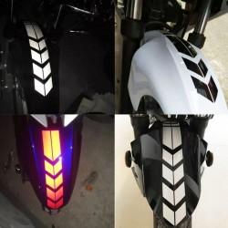 Motorcycle wheel fender reflective sticker - safety warning arrow - waterproof