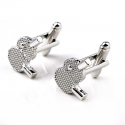 Table tennis racket - silver cufflinks