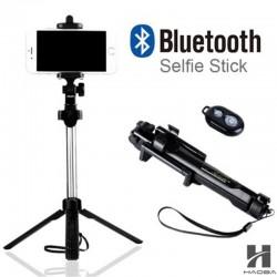 Treppiede selfie stick Bluetooth con pulsante di scatto per smartphone