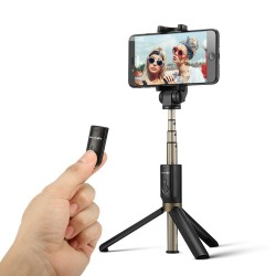 3 in 1 Wireless Bluetooth Mini Tripod Selfie Stick - For Smartphone